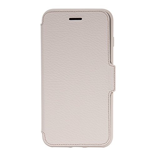 OtterBox STRADA SERIES Case for iPhone 8 Plus & iPhone 7 Plus (ONLY) - Retail Packaging - SOFT OPAL (PALE BEIGE/PALE BEIGE LEATHER)