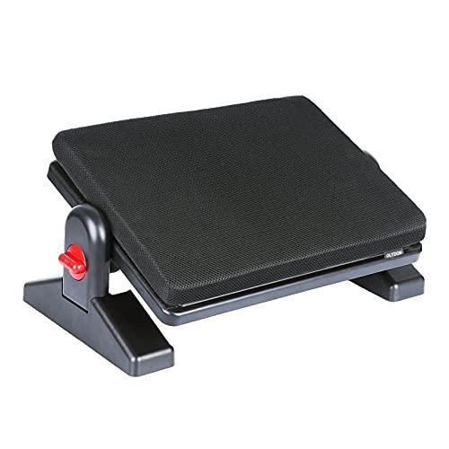 OLYDON Adjustable Foot Rest Under Desk - Height & Tilt Angle Adjustment- Removable Memory Foam Cushion, Four Seasons - Ergonomic Foot Stool for Home & Office
