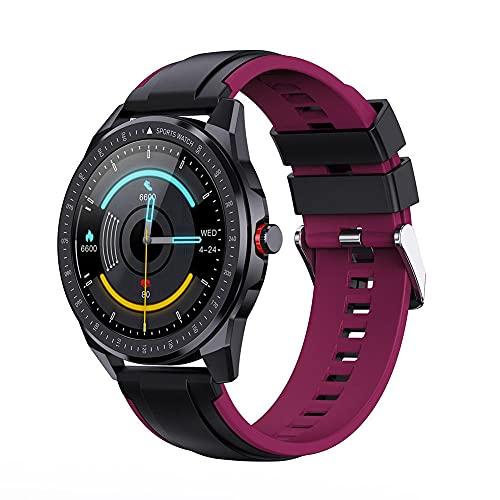 Reloj inteligente fitness pulsera ip68 impermeable respiración entrenamiento detección de frecuencia cardíaca llamada Bluetooth hombres y mujeres podómetro-A