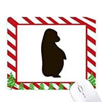 黒のオランウータンの動物の描写 ゴムクリスマスキャンディマウスパッド