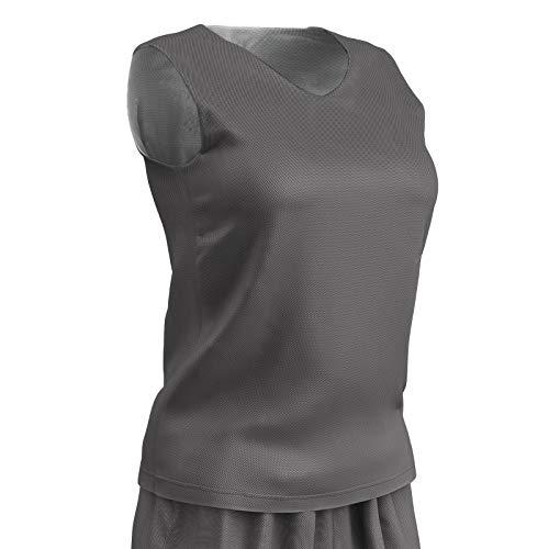 Champro wendbares Basketball-Trikot aus Polyester, für Damen, Größe XXL, Anthrazit, Weiß