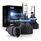 LUYED LED Headlight Bulbs Conversion Kit Y8 Series ZES Chips Extremely Bright 6500K Xenon White - 8000 Lumens/Set (H11/H8/H9)