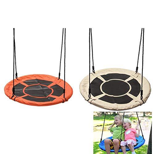 YLJYJ Outdoor Nest Schaukel für Kinder und Erwachsene Familienschaukel Sitz Hinterhof Garten 2 Stück Set, blau