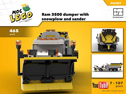 Ram 3500 dumper with snowplow and sander (Instruction Only): MOCLEGO (English Edition)