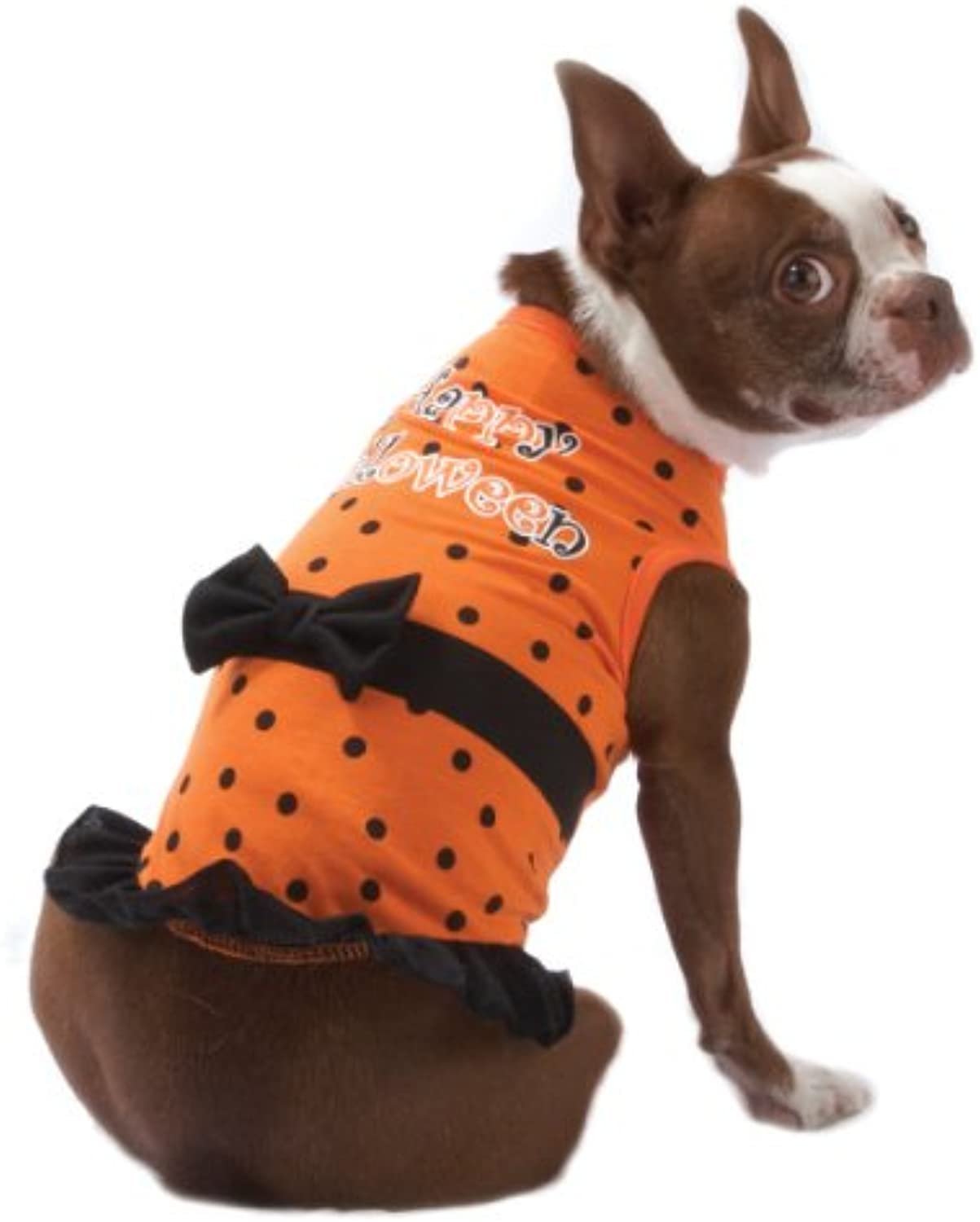 Happy Halloween Polka Dot Dress for Dogs  Size XSmall