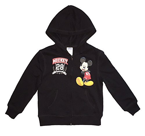Disney Mickey Mouse Little & Big Boys Hooded Zip Sweatshirt (S (6/7))