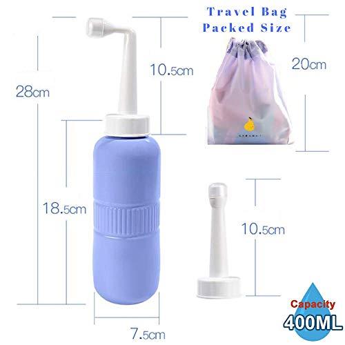 Postpartum Peri Bottle Upside Down Mom Spray Bottle Portable Bidet for Postpartum Care,Baby Mom Washer 2 in 1 Travel Handheld Personal Hygiene Tushy Bide Bottle 400Ml & Angled Nozzle Spray,Bonus Bag