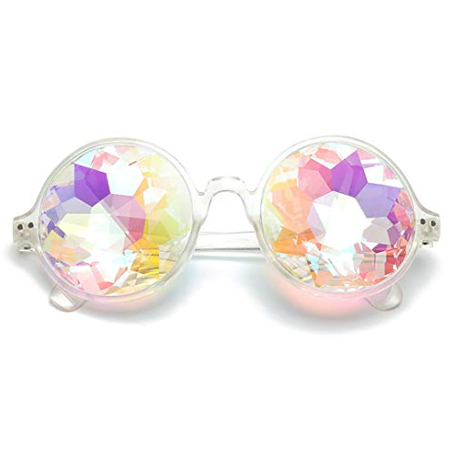 Naimo Kaleidoscope Rave Glasses Rainbow Prism Sunglasses Goggles