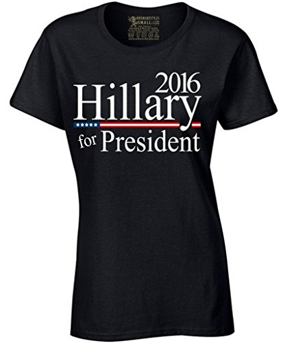Awkwardstyles Women's Hillary for President Tshirt 2016 Political Election Shirt S Black
