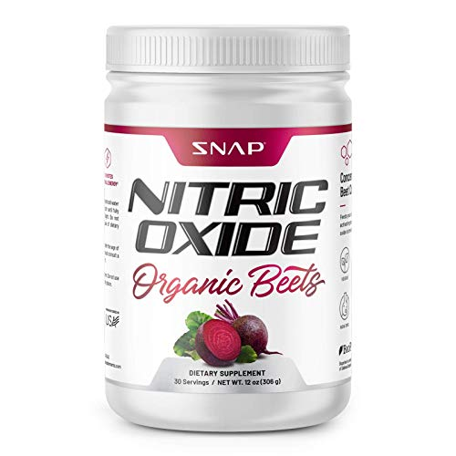 Beet Root Powder Organic - Nitric Oxide Beets by Snap Supplements - Supports Lower Blood Pressure and Circulation Superfood, Muscle & Heart Health - BCAAs. L Arginine, L Citrulline 12 oz