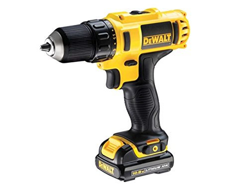 Dewalt DCD710D2-GB Compact Drill Driver with 2 x 2.0Ah Lithium-Ion Batteries, 10.8V, 13.46cm x 13.15cm x 3.46cm