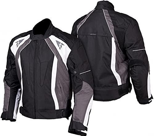 L&J Motorradjacke - Jacke mit herausnehmbaren Protektoren - Textil Motorrad Jacke Biker Chopper (m)
