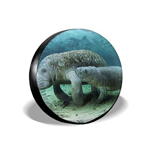 GOSMAO Dugong - Cubierta para llanta de Repuesto para Madre e Hijo, Cubierta Universal para llanta de Repuesto, tamaño 15 Pulgadas