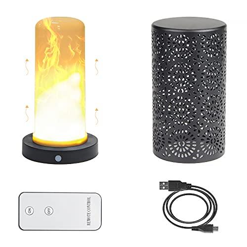 CPROSP LED Flammen Leuchte Magnetisch mit Fernbedinung, Nachtlampe Widerafuladbare, IP44 Wasserdicht, Dekorative