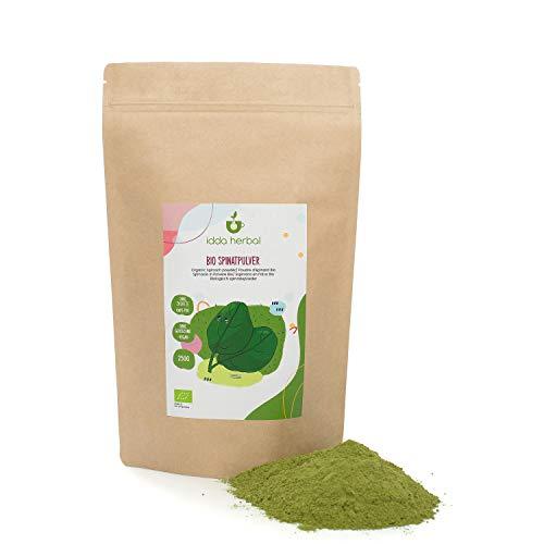 BIO Spinatpulver (250g), Spinat gemahlen, 100% naturrein, schonend gemahlen, natürlich ohne Zusätze, vegan