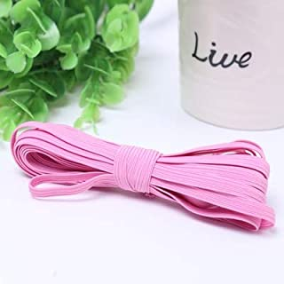 TMYQM 6mm Colorful High-Elastic Round Elastic Bands Rope Rubber Band Line Spandex Ribbon Sewing Lace Trim Waist Band Garment Accessory (Color : Pink, Size : 6mm)