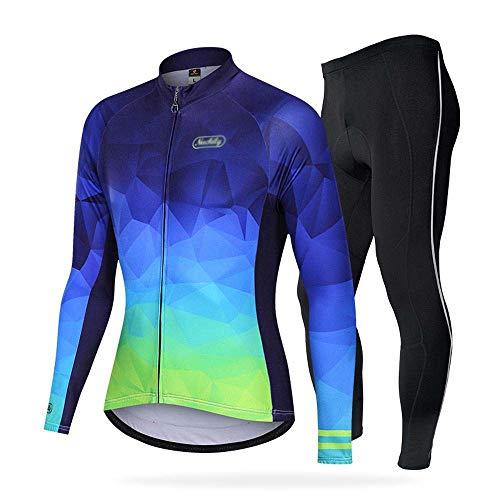BEYONDTIME - Traje de ciclismo para hombre, de silicona, para exteriores, forro polar, para ciclismo, talla A mediana.