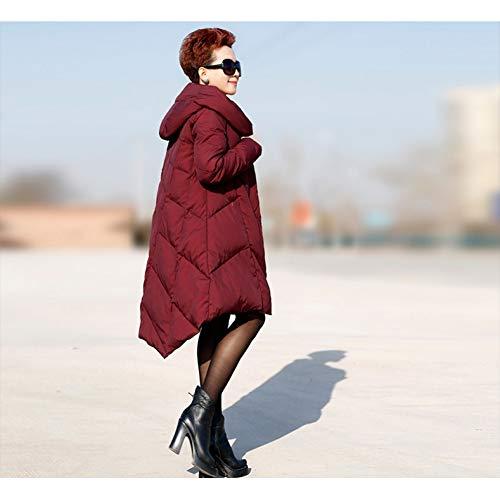 GDRFHJZ winterjas, grote maten en lange secties, grote bouwplaatsen, smal, damesjas, hooded A