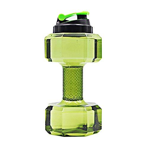 Beito Hantel Kessel Neue Sportflasche Leakproof Deckel/Flip Top Hantel Trinkflaschen - 74 OZ / 2.2L Big Kapazität Sports Trinkwasser-Flaschen für Outdoor Gym (Grün)