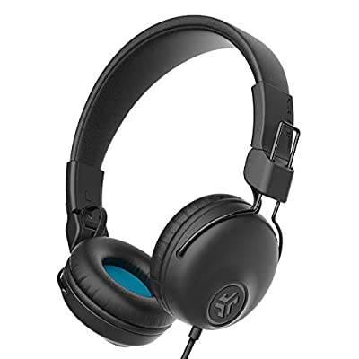 JLab Audio Studio Headphones Wired with C3 Crystal Clear Clarity Sound, Ultra-Plush Faux Leather and Cloud Foam Cushions, On-Ear Wired Headphones, Black by Jlab Audio