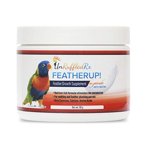 FeatheredUp! Bird Formula for Healthy Feathers - Nutrient-Rich Healthy Vibrant Feather Growth Supplement with Biotin for Parrot, Cockatiel, Conure -...