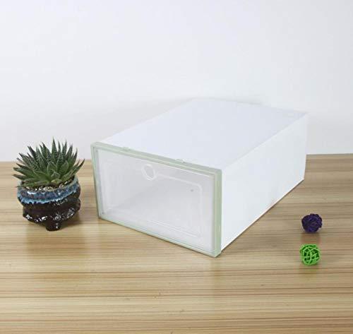 Glug Juego de Cajas de Zapatos, Estante de Almacenamiento de plástico Plegable de plástico Plegable de plástico de Color Plegable, Caja de Almacenamiento de Pila de Pila de Zapatos