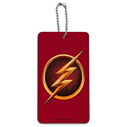 The Flash TV Series Logo Wood Luggage Card Suitcase Carry-On ID Tag