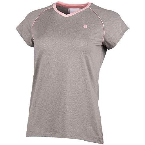 K-Swiss KS TAC Hypercourt Advantage Camiseta de Tenis, Mujer, Light Gris Melange, S