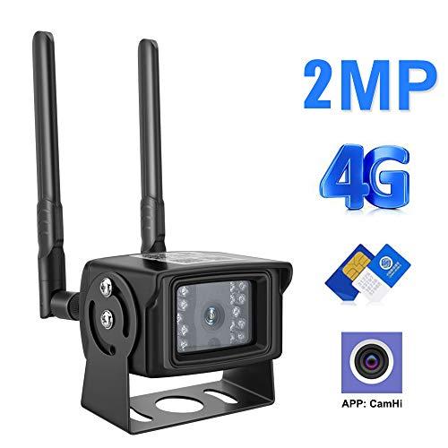 KuWFi 4g Überwachungskamera, 4G Kamera IP 1080P 2MP HD 3G SIM Karte Kamera Metall Fall Outdoor WiFi Kamera Wireless Mini CCTV P2P für Auto APP CamHi