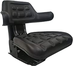 Concentric Black Waffle Style Universal Tractor Suspension Seat, Multi-Angle Base for Ford/New Holland 600, 601, 800, 801, 4610, 5000, 5600, 5610, 5910, 6600, 6610, 7000, 7600, 7610