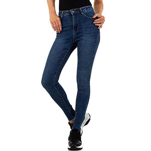 Ital Design Damen HIGH Waist Skinny Jeans Laulia Gr. XS/34 Blau