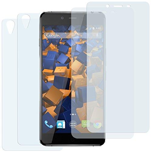 mumbi Schutzfolie kompatibel mit OnePlus X Folie klar, Bildschirmschutzfolie (4X)