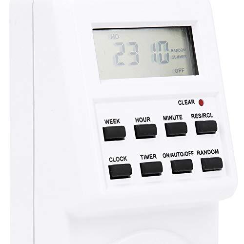 Interruptor temporizador de enchufe multimodal Temporizador de salida digital con horario de verano para control de equipos electrónicos Interruptor de control de tiempo eléctrico
