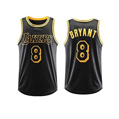 Wenhua Maillot para hombre, Kobe Bryant Los Angeles Lakers # 26 Jersey, Black Mamba Edición Conmemorativa Maillot Baloncesto Masculino, Jersey Mamba Negro, Campeonato de Lakers