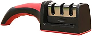 SLACTech Afilador de Cuchillos, 3 Etapa Manual con Base Antideslizante para cuchillos de todo tamaño del hogar