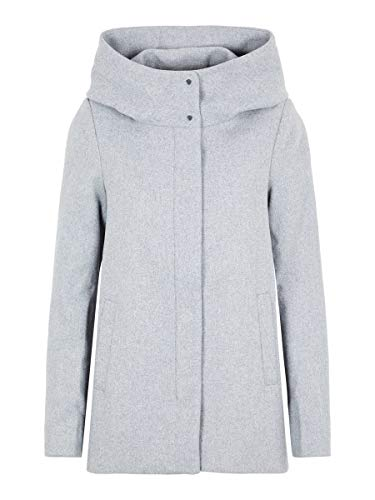 VERO MODA Damen Wollmantel Mantel VMHYPER CLASS WOOL JACKET NOOS, Grau (Light Grey Melange Light Grey Melange), Small (Herstellergröße: Small)