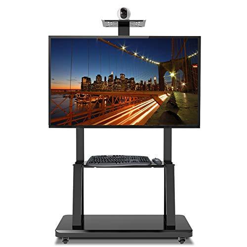 SSZY Soporte TV Trole Soporte de Carro de TV Rodante Universal de Alta Resistencia con Ruedas, Se Adapta a Televisores LCD LED de 32 40 50 55 60 de 70 Pulgadas, Soporte de Carro de Piso Negro