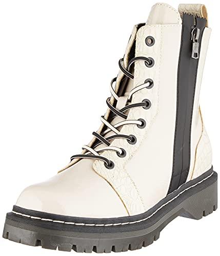 bugatti Damen 431A4P505758 Mode-Stiefel, beige/Reptile Print, 38 EU