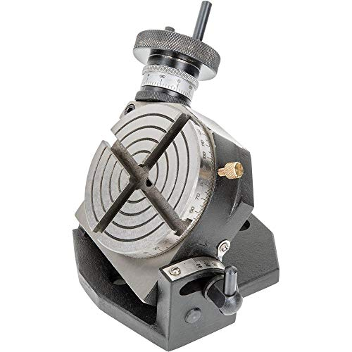 """Grizzly Industrial H7578 - 4"""" Rotary Table With Tilting Base"""