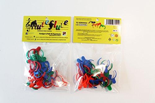 Sordina para Flauta dulce Muteflute 23 + 1 GRATIS colores surtidos * Insonoriza parcial o totalmente tu flauta