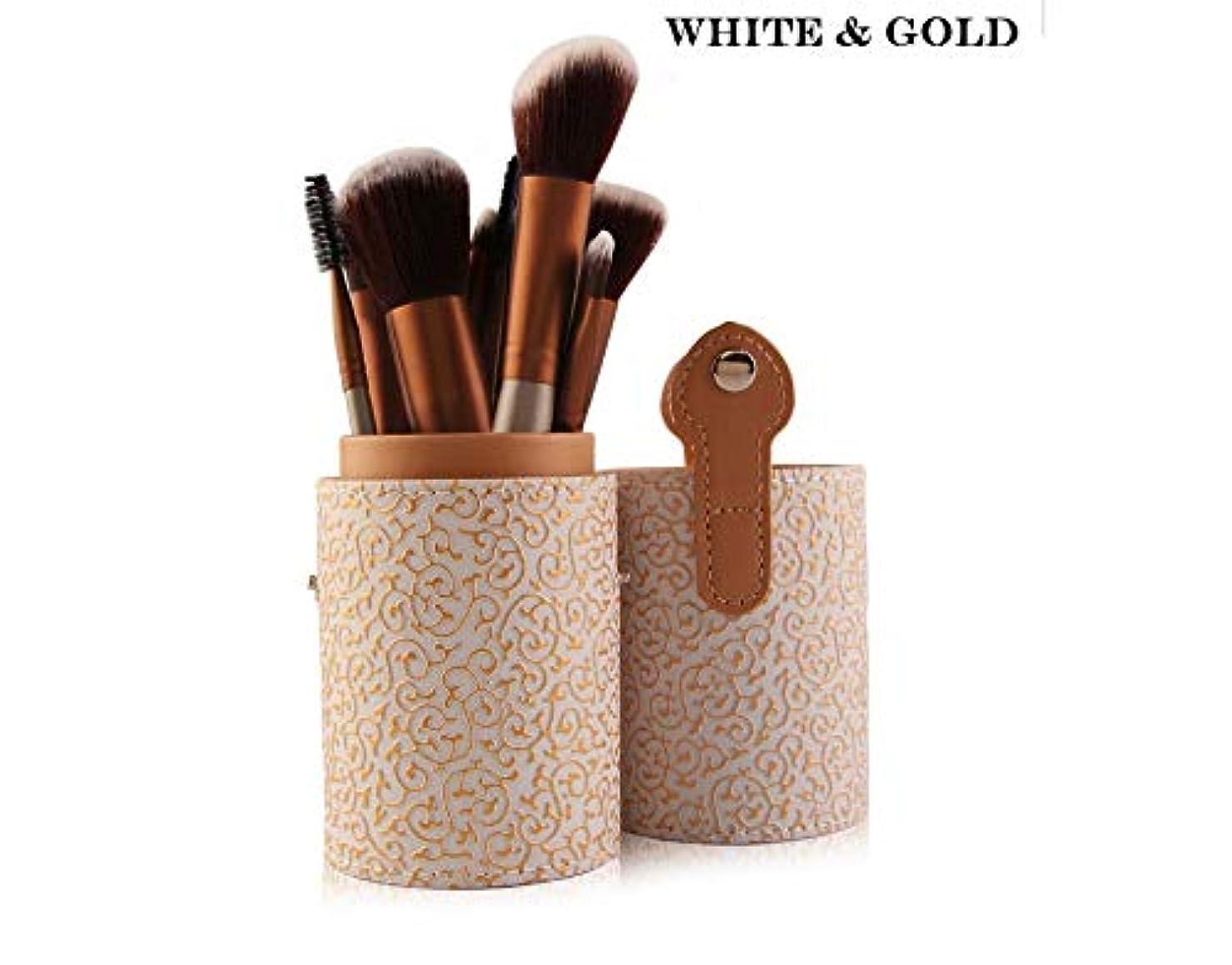アテンダントワークショップ論理的SfHx 化粧筆セット、12気筒化粧筆セット化粧道具セットブラシ (Color : ホワイト)