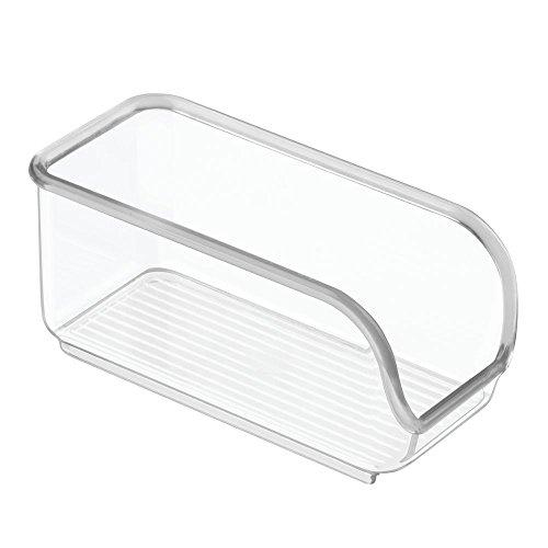 InterDesign Linus cajoneras de plástico para azucarillos | Ideal para utensilios de cocina y sobres de azúcar | Organizador armarios con apertura lateral | Plástico transparente