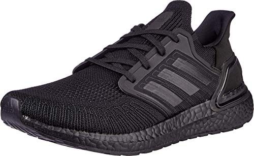 adidas Men's Ultraboost 20 Running Shoe, Black/Black/Solar Red, 9 M US