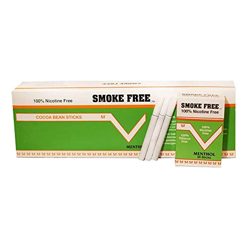(Carton 10 Packs) Made in USA Since 1998 100% Nicotine Free(Cocoa Bean Cigarettes) Menthol Flavor