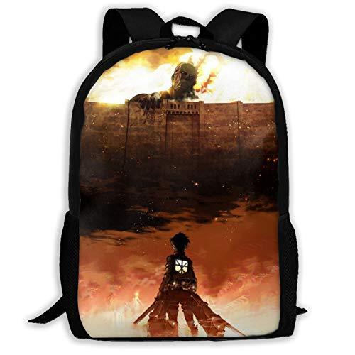 Mochila ligera de viaje Attack on Titan para la escuela al aire libre, bolsa de colegio, resistente al agua, mochila de computadora para niños y niñas