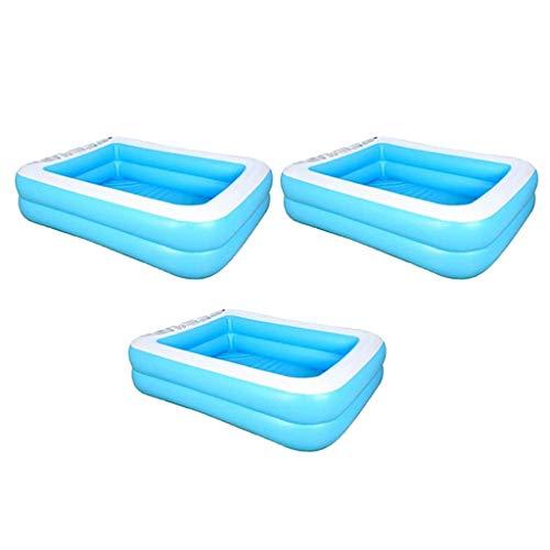 Amuzocity Piscina Inflable 3pcs Que Saltan Los Niños Que Nadan Que Bañan El Jardín de La Piscina del Juego
