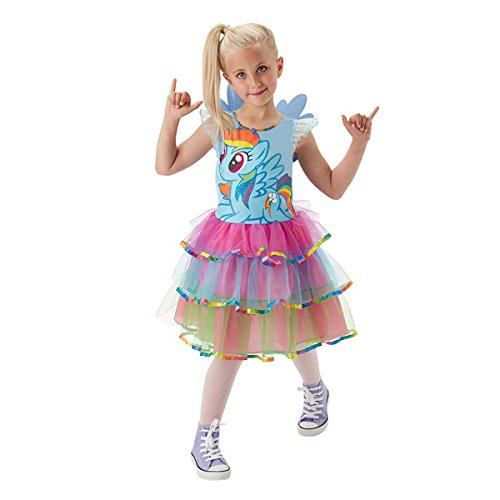 Rubie's 3620099 - MLP Rainbow Dash Deluxe - Child, Action Dress Up