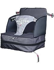roba Boostersäte, mobil uppblåsbar barnstol med upphöjda sidopaneler, flexibelt boostersäte för hem och resor