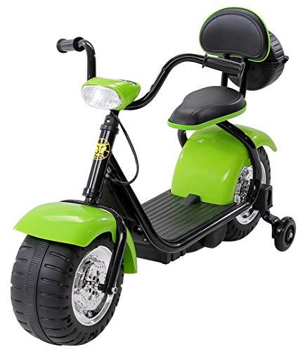 Actionbikes Motors Kinder Elektromotorrad Harley Scooter BT306 - 15 Watt Motor – Weichgummiring Reifen (Grün)