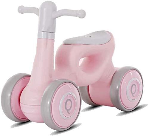 HEBAI Mini niños Walker, Cubierta de bebé al Aire Libre Bike Balance Sin Pedal del Coche de bebé Paseo en Juguetes for los 1-3 años 10.26 (Color : Pink)
